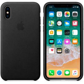 Чехол для iPhone Apple iPhone X Leather Case Black